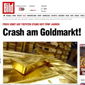Crash am Goldmarkt, Quelle: www.bild.de