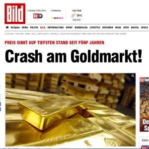 Crash am Goldmarkt, Quelle: www.bild.de